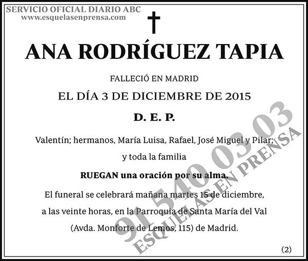 Ana Rodríguez Tapia